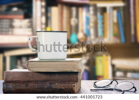 Books and mug