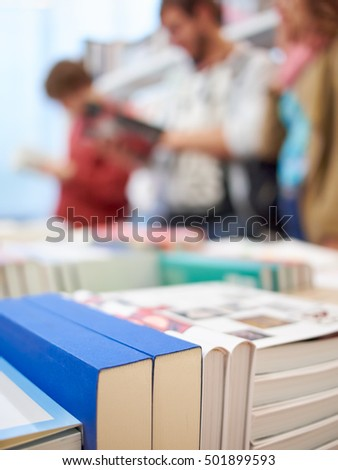 Books and people in the store