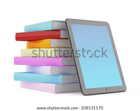 Books and tablet computer