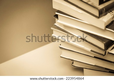 books background - stock photo