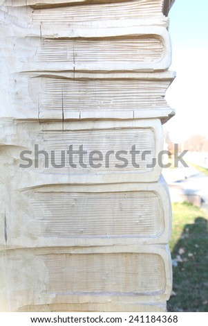 books from a tree - stock photo