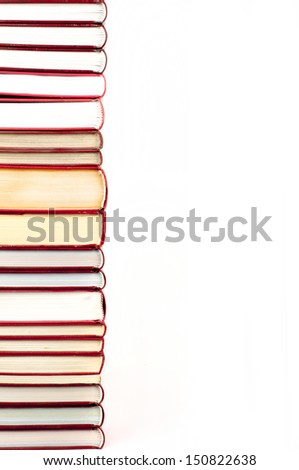 books in a row with place for your text - stock photo
