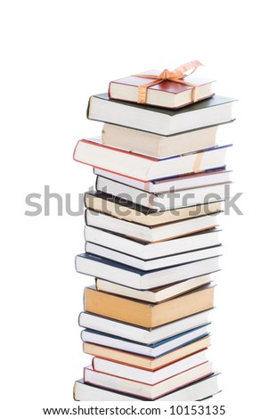 Books in gift packing isolated on a white background