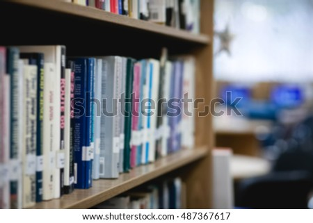 Books in public library