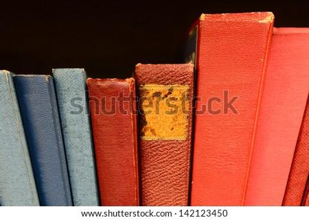 Books in shelf - stock photo