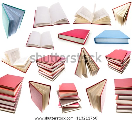 Books isolated on plain background. - stock photo