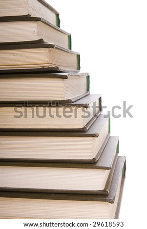 Books isolated on white background. - stock photo