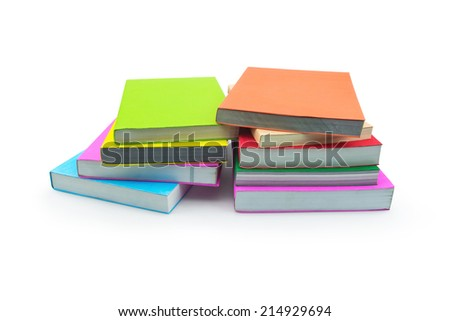 Books isolated on white background. Concept of education