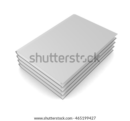 Books isolated on white  background. 3d render
