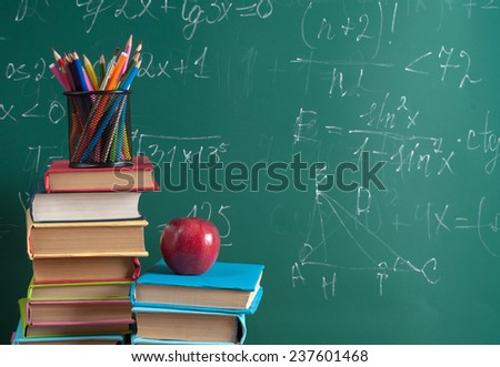 Books on the background of the school board