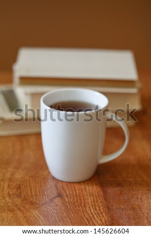 books on the table - stock photo