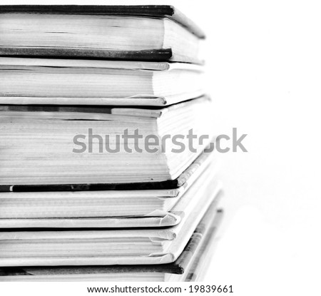 books on white