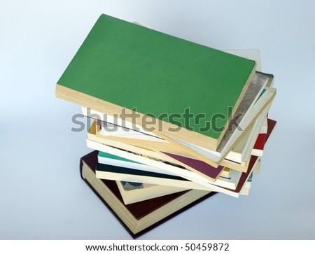 books on white - stock photo