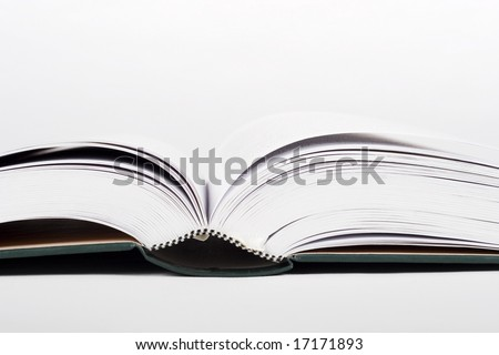 Books on white background - stock photo