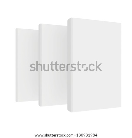 books one after the other from the white cover - stock photo
