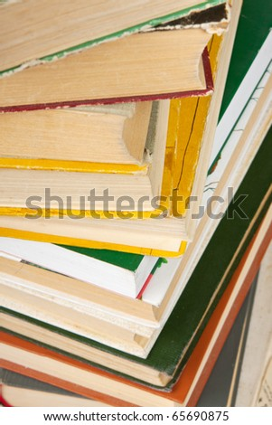 Books pile - stock photo
