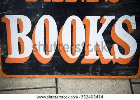 Books sign - stock photo