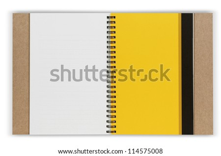 Books stack isolated on white background with clipping path - stock photo