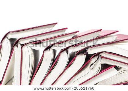 Books stacked - stock photo