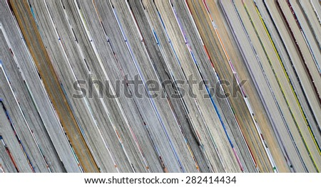 books stacking in a row - stock photo