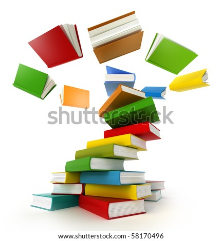 Books Tornado . Isolated on white.