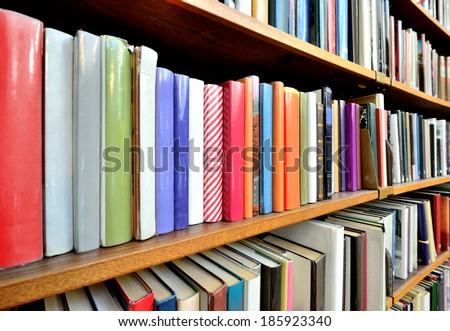 Bookshelf in public library