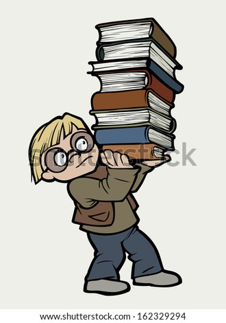 Bookworm - stock photo