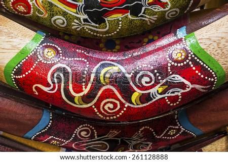 Boomerangs background - stock photo