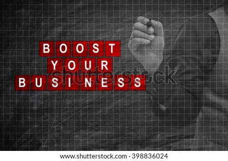 Boost Your Business - stock photo