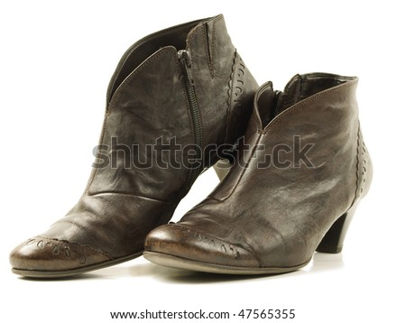 Boots of soft Italian leather, with high heels