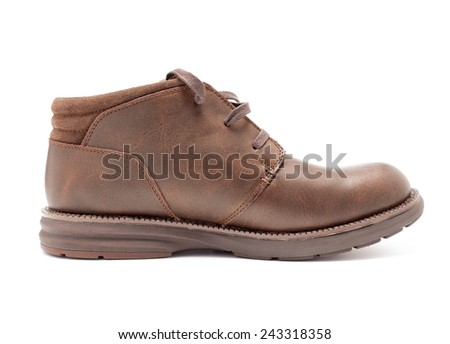 Boots on a white background closeup isolated - stock photo