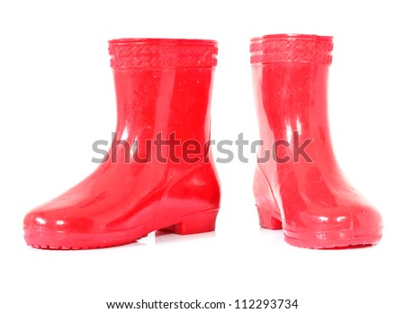 Boots on white background. - stock photo