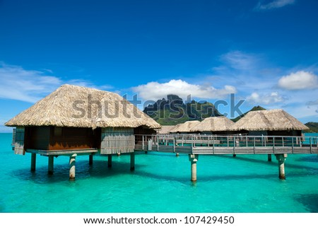 bora bora - stock photo