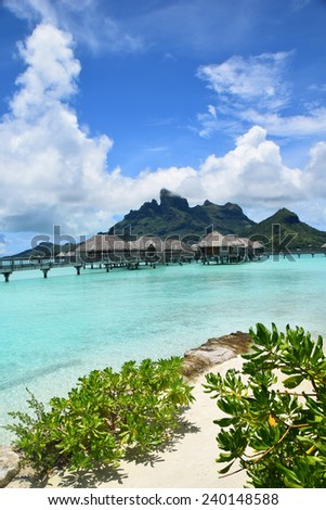 Bora Bora Overwater Bungalow - stock photo