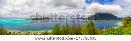 Bora Bora panoramic  - stock photo