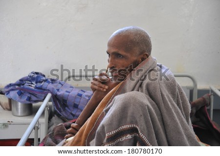 BORAMA, SOMALIA - JANUARY 13, 2010: Public hospital in the city of Borama in North-West Somalia. Located near the border with Ethiopia. The hospital has a poor funding.