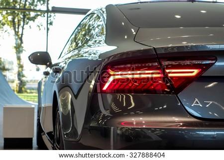 BORDEAUX, FRANCE, October 15, 2015 : Audi Cars.Audi, Part Of