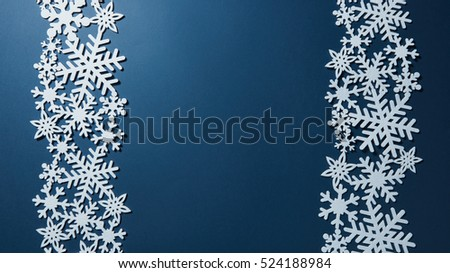 Border of Christmas snowflakes