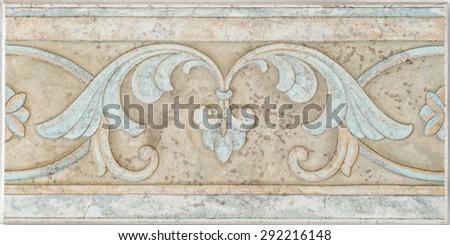 border tile - stock photo