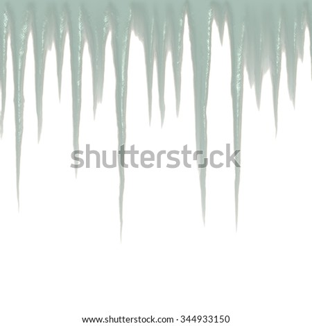 Border with icicle pattern