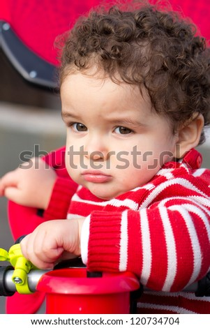 Bored Baby Face - stock photo