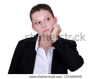 Bored businesswoman - stock photo