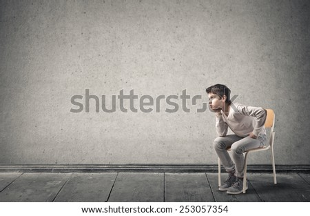 Bored teenager  - stock photo