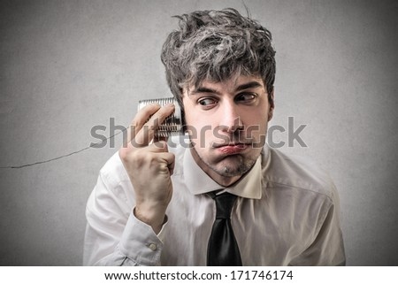 boring conversation - stock photo