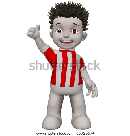 Boris football supporter cheering for his team - stock photo