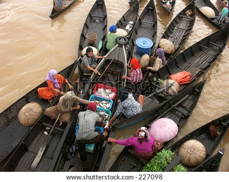 Borneo Floating market