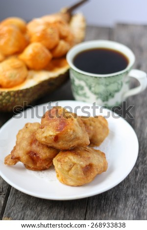 Borneo traditional cake- cucur cempedak or Kuih Pulutan