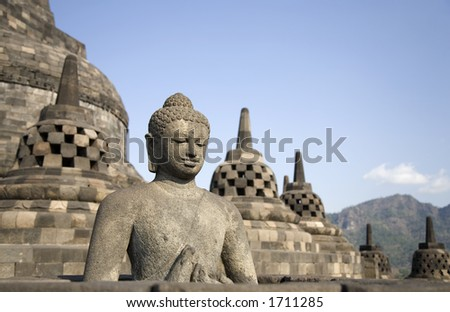 Borobudur 4 - stock photo