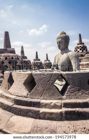 Borobudur, Indonesia - stock photo