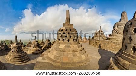 Borobudur, Jawa, indonesia - stock photo